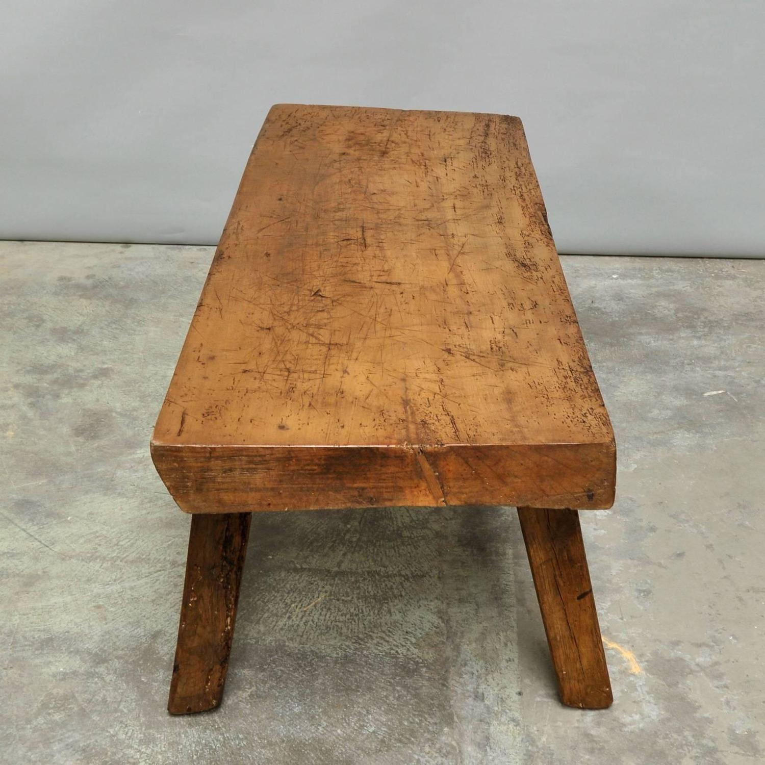 Antique Butcher Block Coffee Table For Sale At 1stdibs. Full resolution‎  photo, nominally Width 1500 Height 1500 pixels, photo with #6F4422.