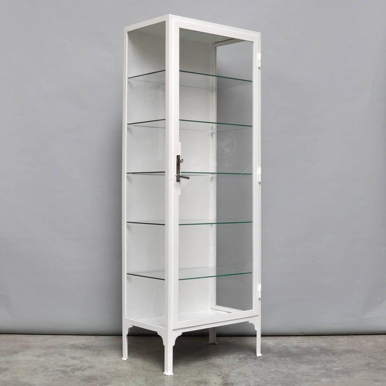 Vintage Steel and Glass Medicine Cabinet, 1940s at 1stdibs
