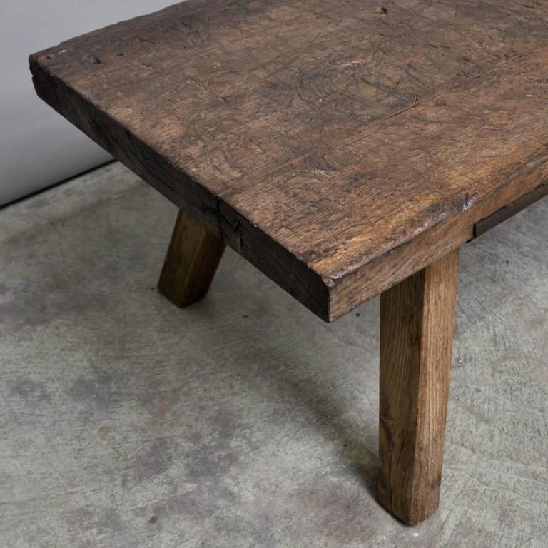 Hungarian Butcher 39 S Block Coffee Table 1920s At 1stdibs