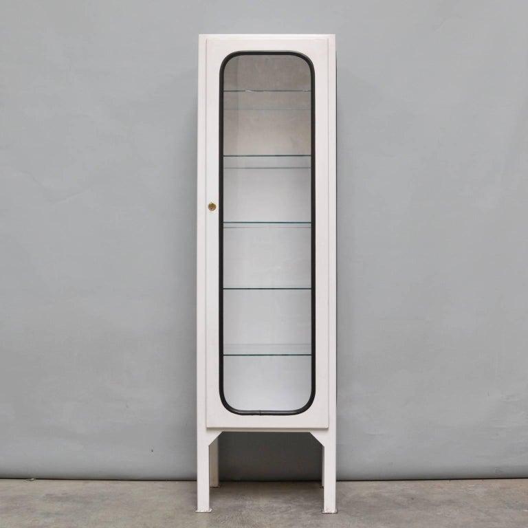 vintage medicine cabinet with five glass shelves 1975 for