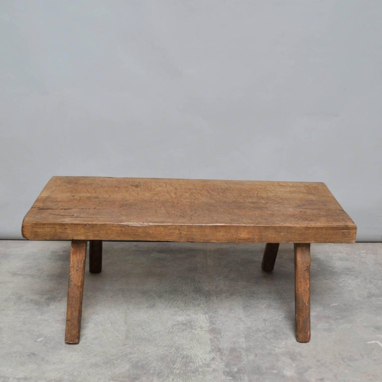 Vintage Oak Butcher 39 S Block Coffee Table Bench 1930s At 1stdibs