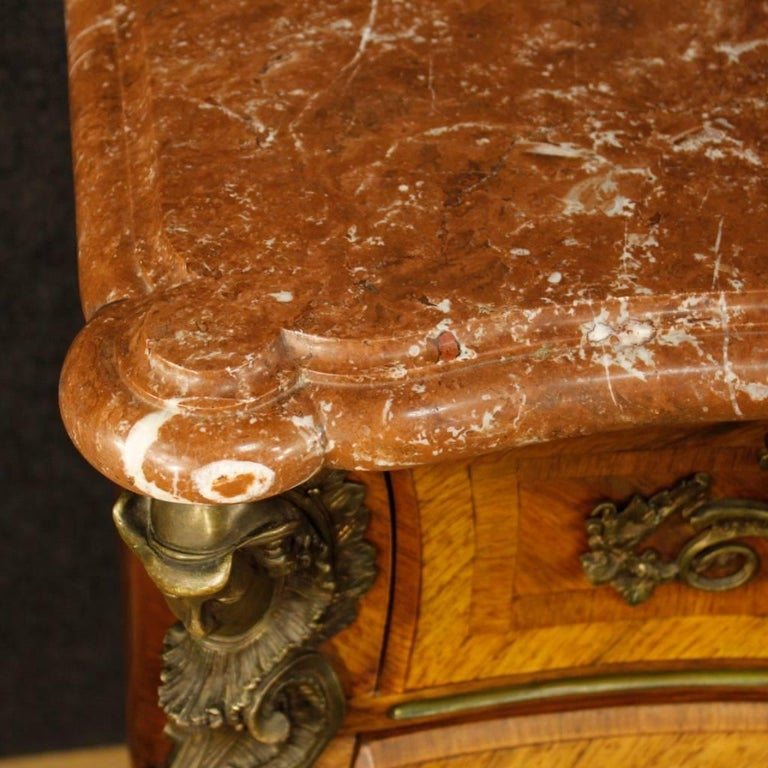20th Century French Chest of Drawers with Marble Top in Louis XV Style 3