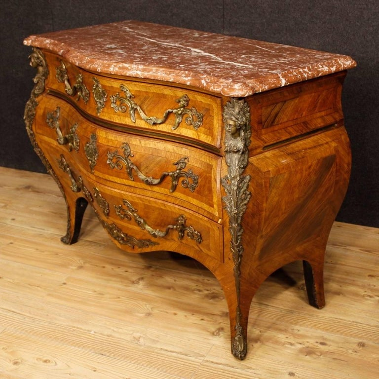 20th Century French Chest of Drawers with Marble Top in Louis XV Style 6