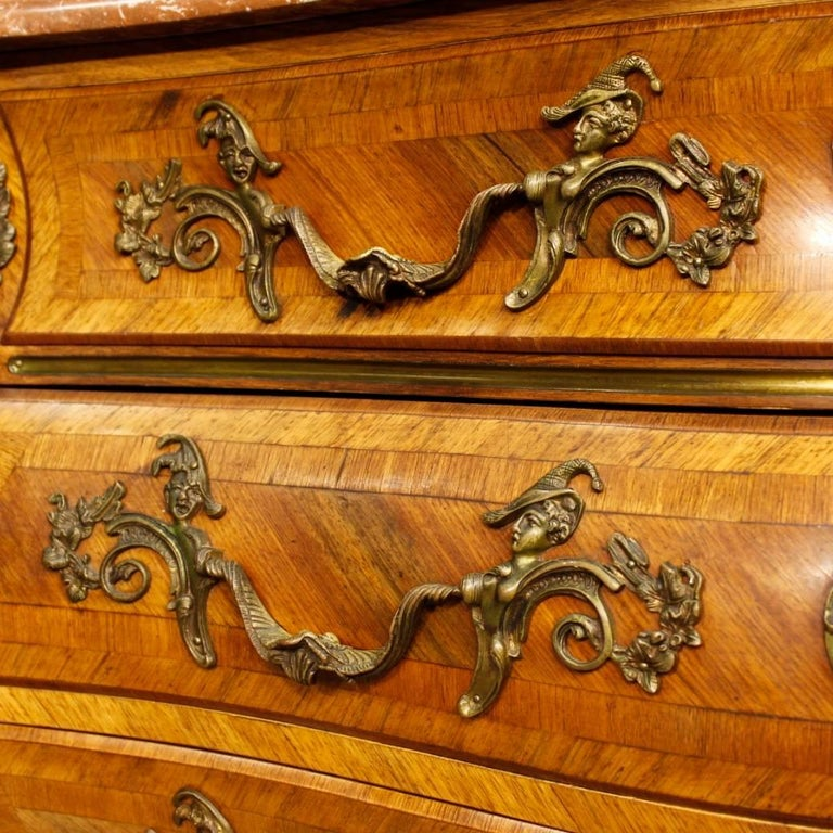 20th Century French Chest of Drawers with Marble Top in Louis XV Style 7