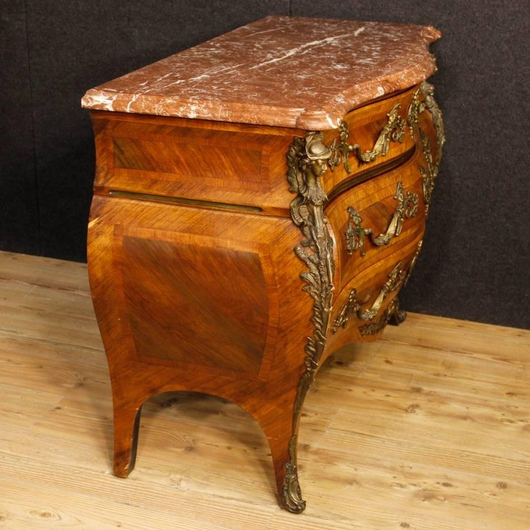 20th Century French Chest of Drawers with Marble Top in Louis XV Style 8