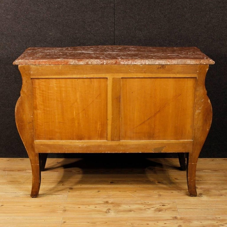 20th Century French Chest of Drawers with Marble Top in Louis XV Style 9