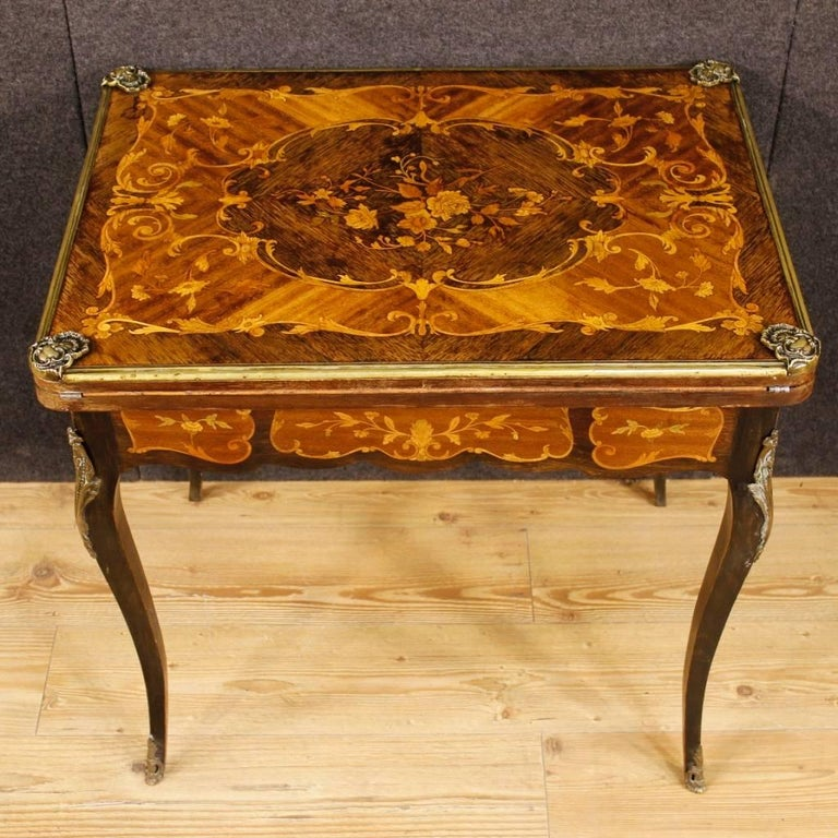 20th century inlaid game table with gilt bronze for sale for 11 in 1 game table