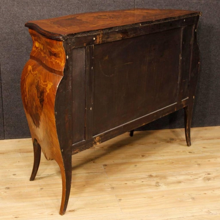 Italian Inlaid Chest Of Drawers In Wood In Louis XV Style 20th Century 6