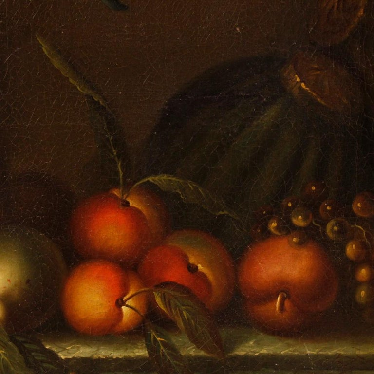 French Still Life Painting Oil on Canvas from 19th Century For Sale 2