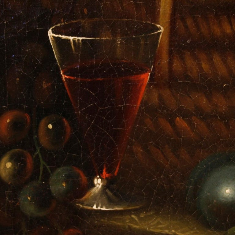 French Still Life Painting Oil on Canvas from 19th Century For Sale 3