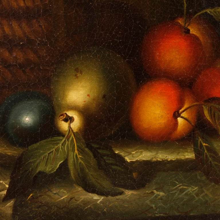 French Still Life Painting Oil on Canvas from 19th Century For Sale 7
