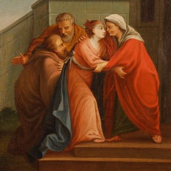18th Century Oil on Canvas Italian Religious Painting, 1780