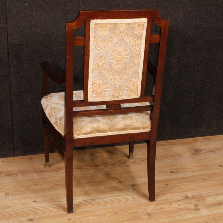 20th Century Mahogany Wood French Art Deco Pair of Armchairs, 1930 In Good Condition For Sale In Vicoforte, Piedmont