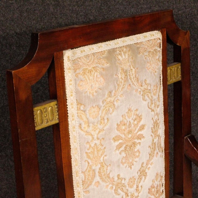 20th Century Mahogany Wood French Art Deco Pair of Armchairs, 1930 For Sale 1