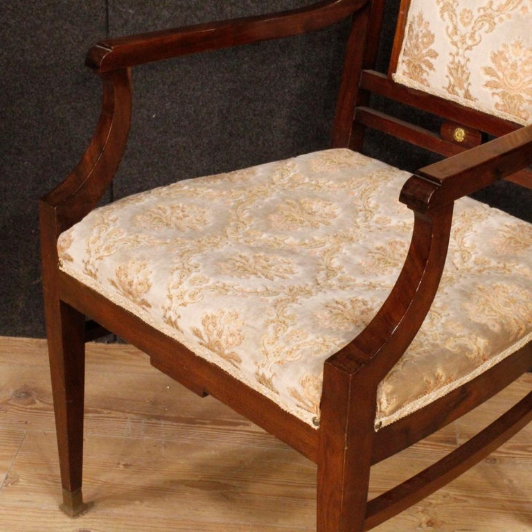 20th Century Mahogany Wood French Art Deco Pair of Armchairs, 1930 For Sale 6