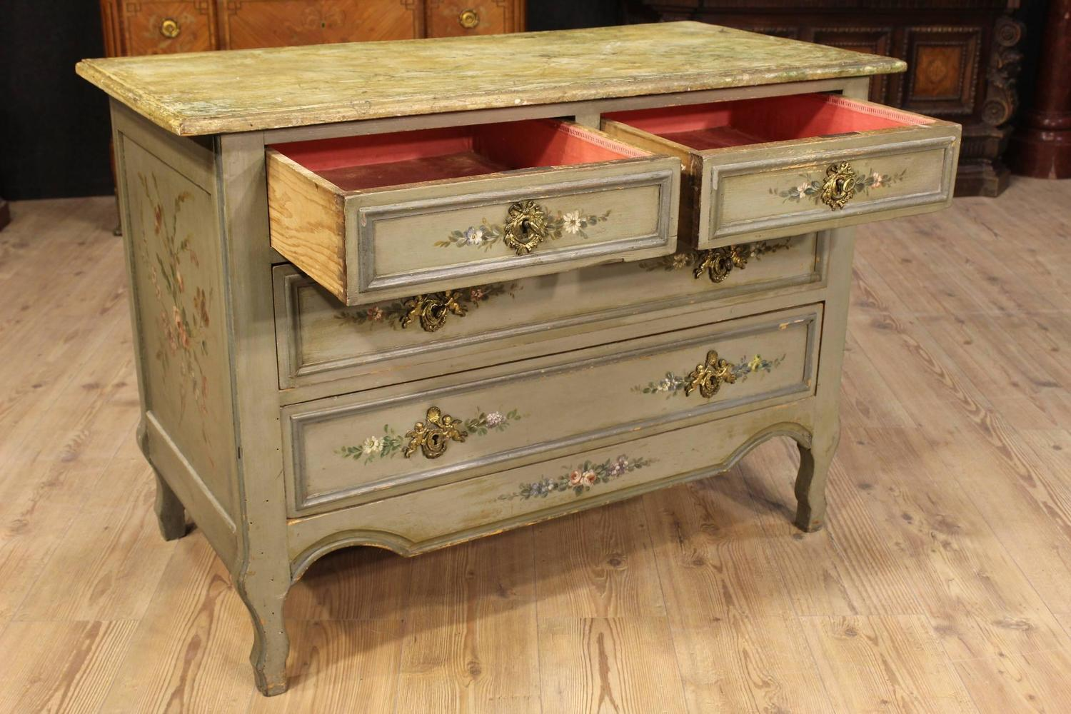 20th Century French Lacquered And Painted Dresser For Sale At 1stdibs