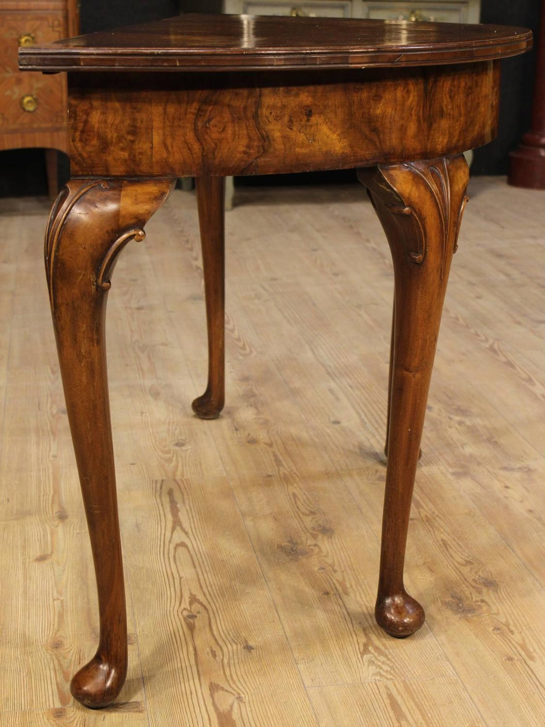 20th century english half moon console table for sale at 1stdibs. Black Bedroom Furniture Sets. Home Design Ideas