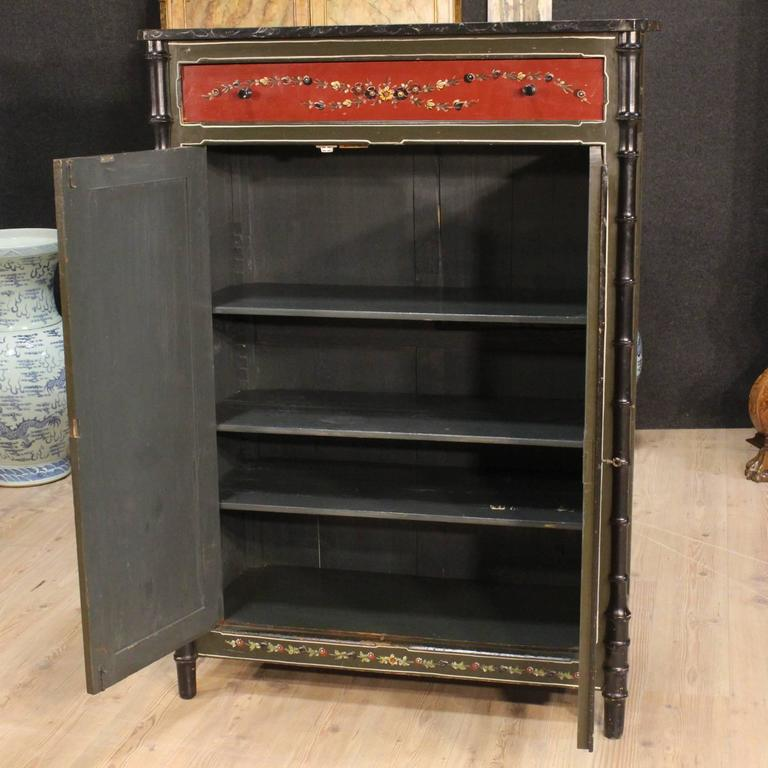 Painted Wood Furniture And Cabinets: 20th Century Dutch Hand-Painted Cabinet For Sale At 1stdibs