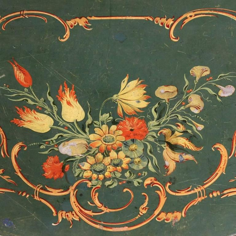 20th Century, Venetian Lacquered and Painted Sideboard 6