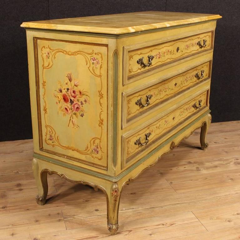 20th century italian lacquered and painted dresser at 1stdibs for Italian painted furniture