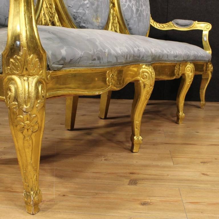 20th Century Italian Golden Sofa 1