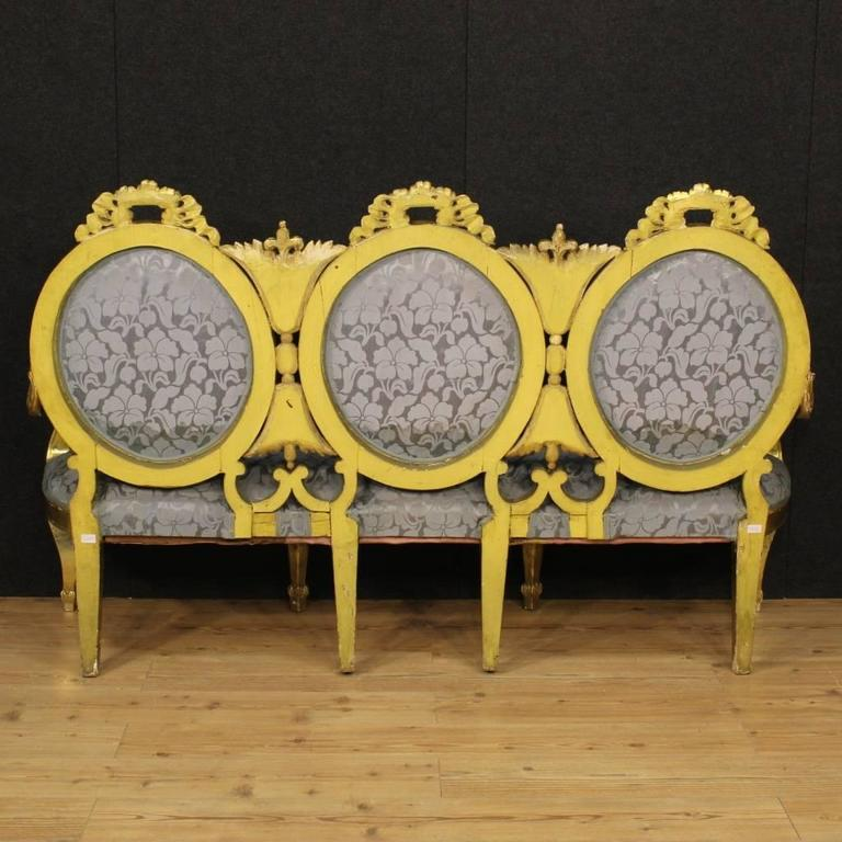 20th Century Italian Golden Sofa 2