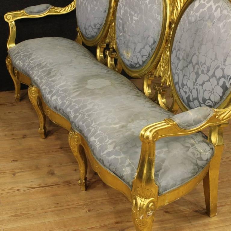 20th Century Italian Golden Sofa 3