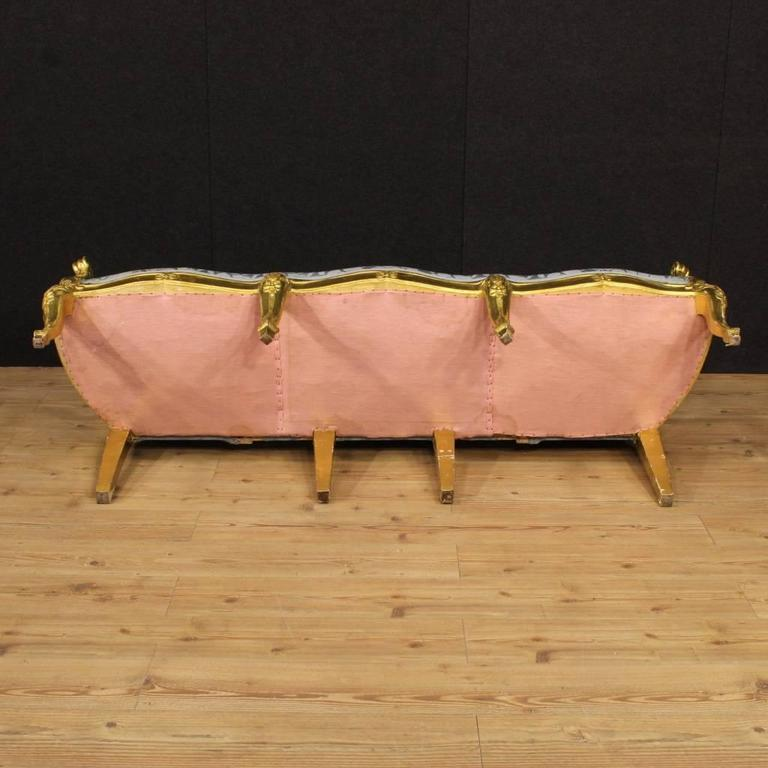 20th Century Italian Golden Sofa 4