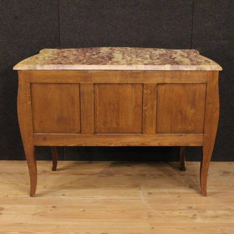 20th Century French Inlaid Dresser in Louis XV Style With Marble Top For Sale 5