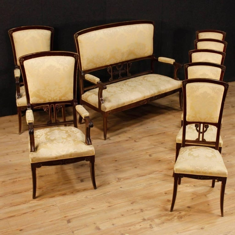 20th Century Pair Of Spanish Armchairs In Modernist Style In Mahogany At 1stdibs