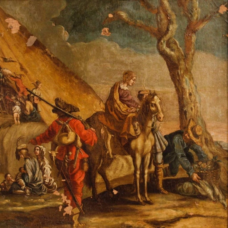 18th century italian painting landscape with characters for Garden design 18th century