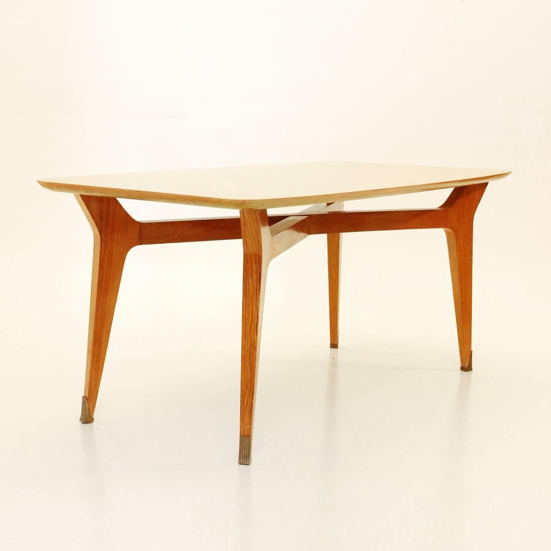 Italian mid century beech dining table 1950s for sale at for Dining room tables 36 x 72