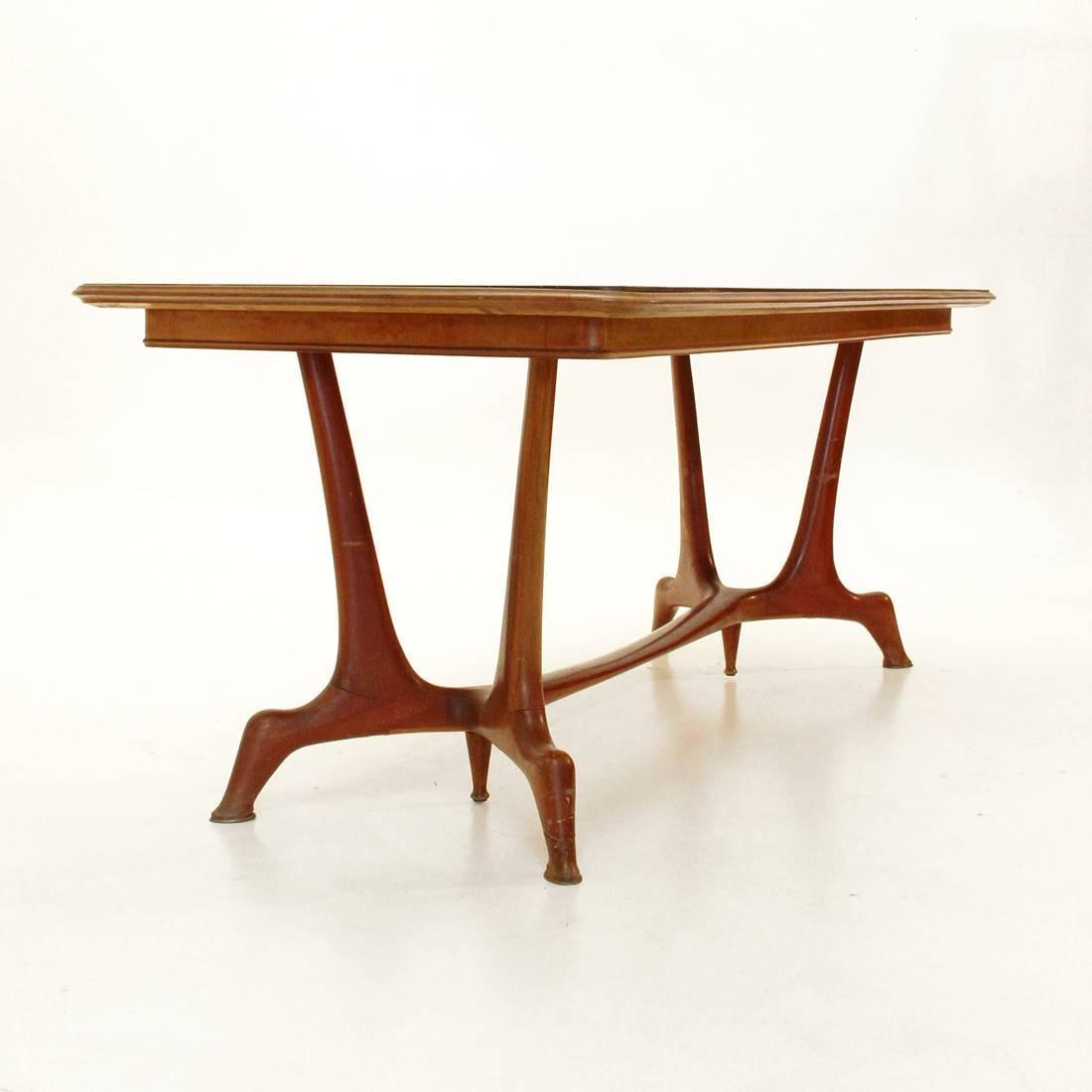 Mid century italian dining table 1950s at 1stdibs for Italian dining table