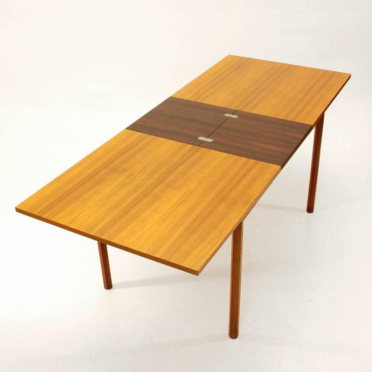 Italian rosewood extensible table 1960s at 1stdibs - Petite table extensible ...