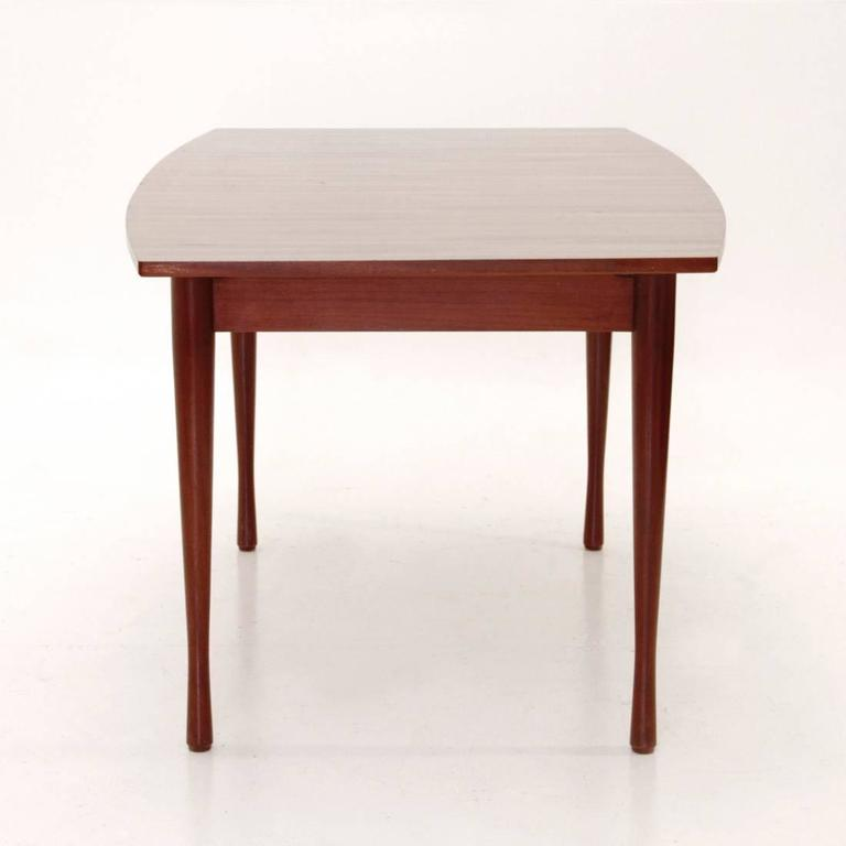 italian teak extensible table 1960s at 1stdibs. Black Bedroom Furniture Sets. Home Design Ideas