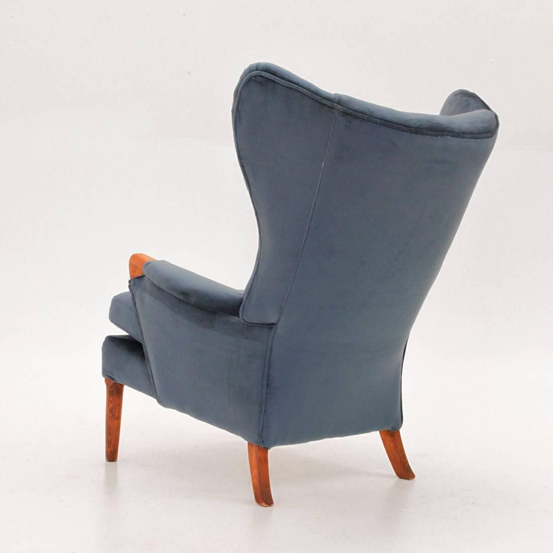 1960s Missoni Wingback Chair At 1stdibs: Vintage Velvet Wingback Chair From Parker Knoll, 1960s For