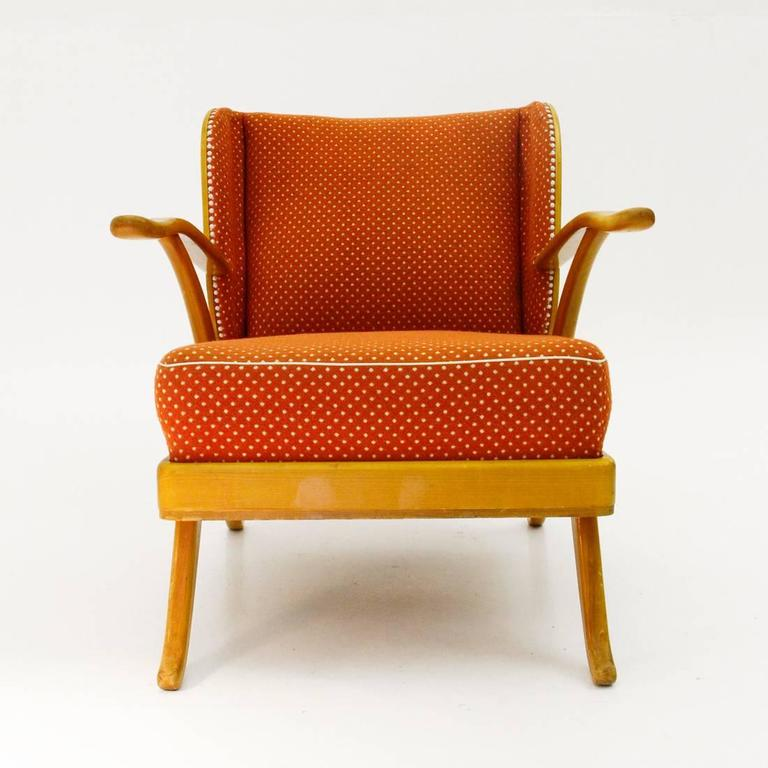 Vintage Italian Wooden Lounge Chair at 1stdibs