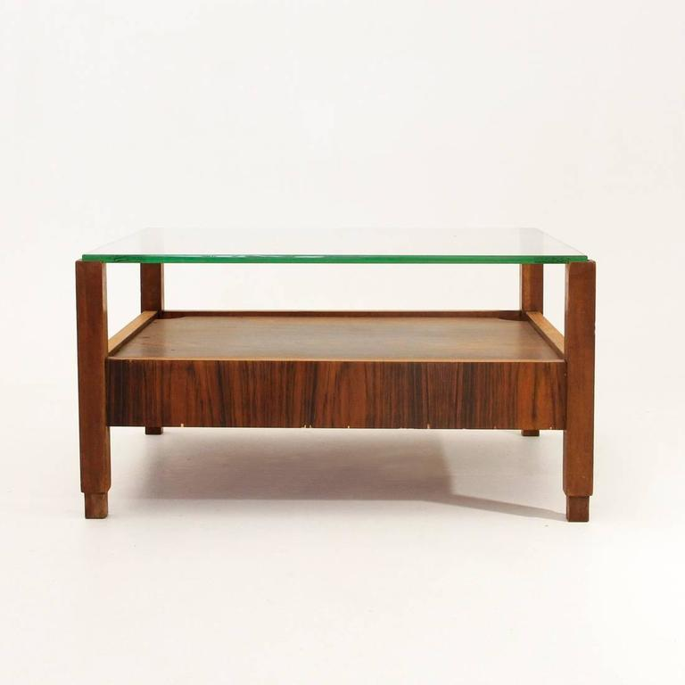 Italian Coffee Table With Glass Top 1960s For Sale At 1stdibs