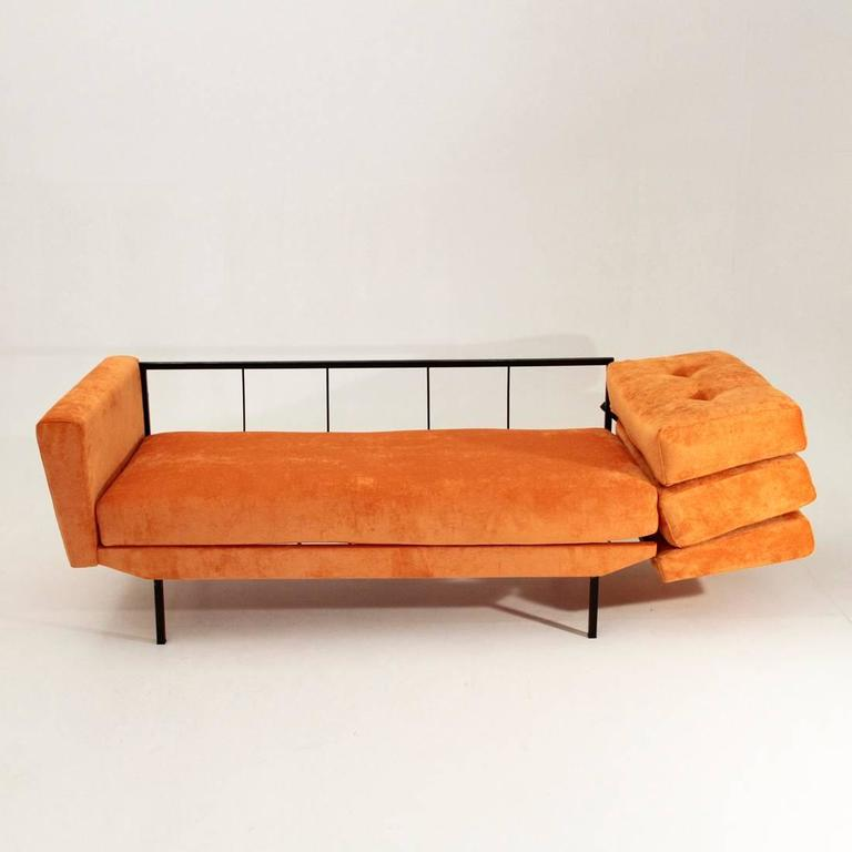 Velvet Sofa Bed: Italian Orange Velvet Sofa Bed At 1stdibs