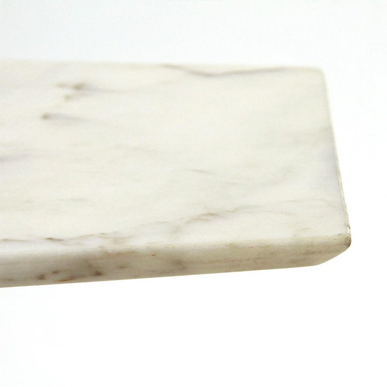 Italian Coffee Table with Marble Top and Brass Base, 1950s For Sale 1