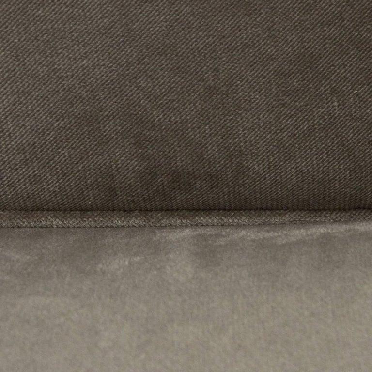 Italian Three-Seat Grey Velvet Sofa, 1950s For Sale 3