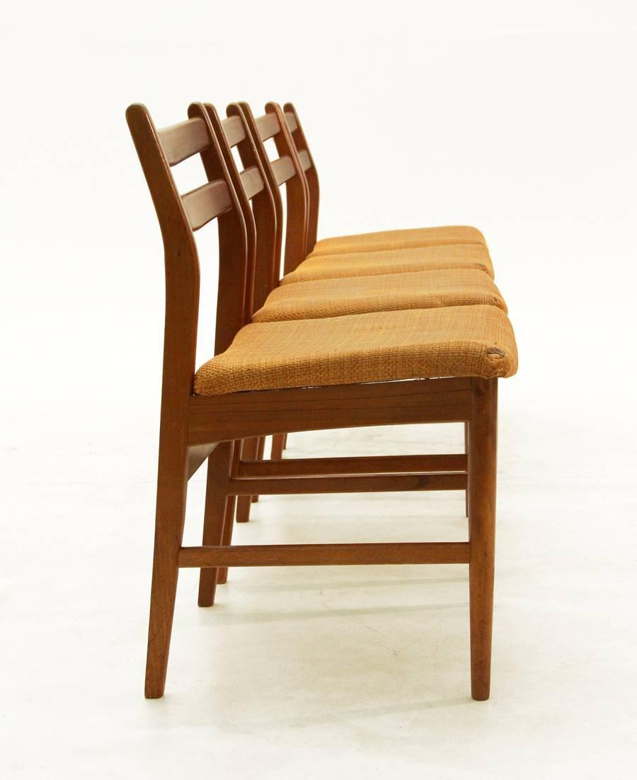 Vintage Wooden Chairs 1960s Set Of Four For Sale At 1stdibs