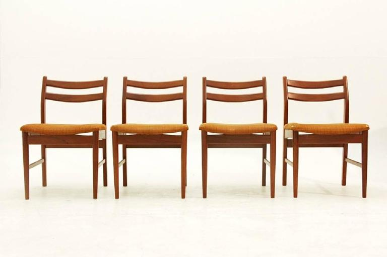 Vintage Wooden Chairs 1960s Set Of Four At 1stdibs