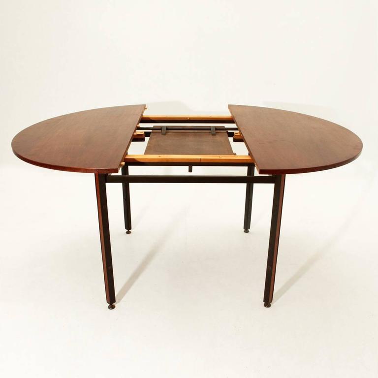 Lack Coffee Table Black Brown 118 X 78 Cm: Teak Veneer Round Dining Table, 1950s At 1stdibs