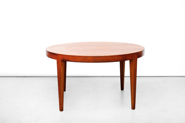 Rare Danish Mid Century Modern Round Coffee Table By Severin Hansen In
