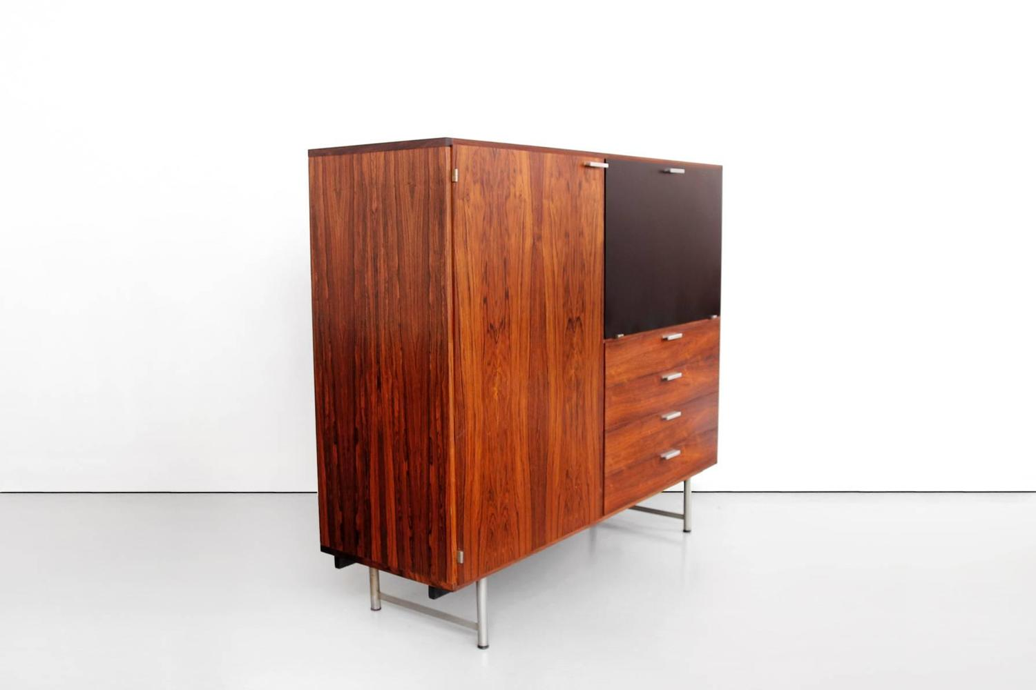 Rare Dutch Modernist Cabinet In Rosewood By Cees Braakman