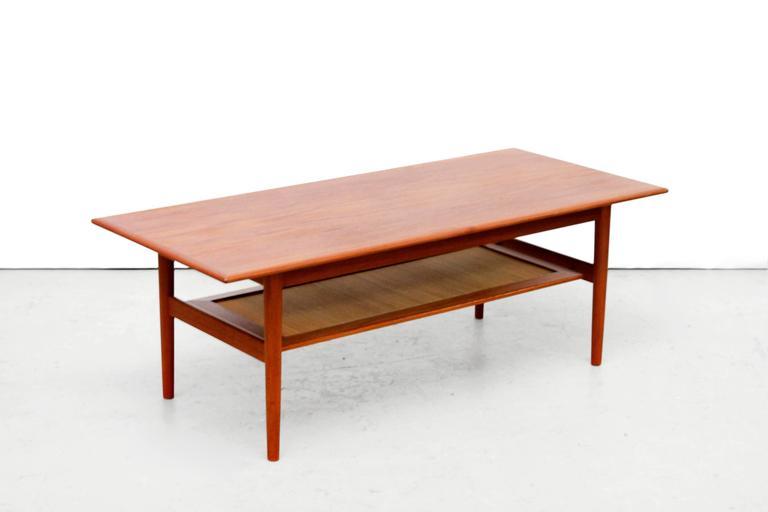 Teak Coffee Table by Peter Hvidt & Orla Mølgaard Nielsen, 1950s 2