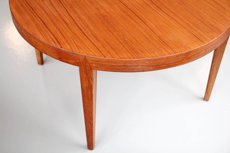 Rare Danish Mid Century Modern Round Coffee Table By Severin Hansen In Teak At 1stdibs