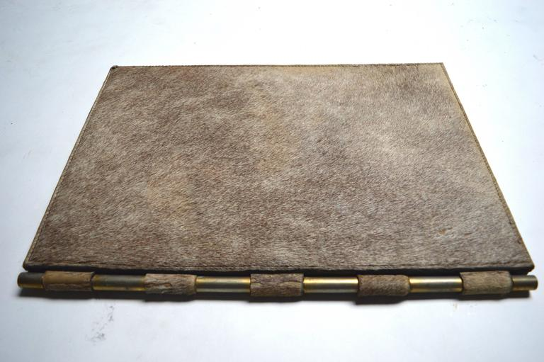 French Horse Hair Desk Pad In Good Condition In Los Angeles, CA