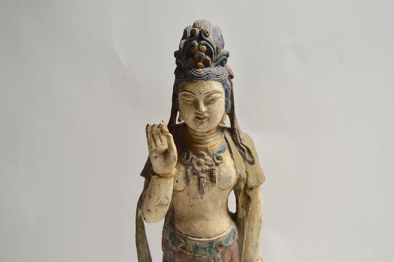 Polychrome Buddha Sculpture 1